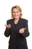 Woman giving a speech Stock Photography