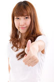 Woman giving thumb up Royalty Free Stock Image