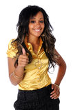 Woman Giving Thumbs Up Stock Photography