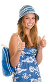 Woman giving thumbs up Royalty Free Stock Images