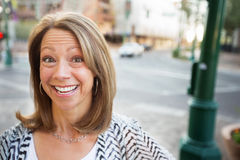 Woman with Glad Expression royalty free stock images