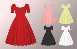 Woman glamour dress Stock Image