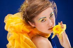 Woman with glamour make-up Royalty Free Stock Photography