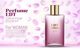 Woman Glamour Rose water spray bottle Royalty Free Stock Photos