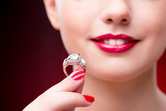 The woman in glamourous concept with jewelry Royalty Free Stock Photography