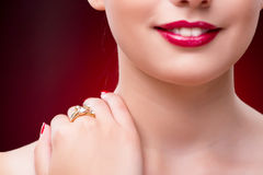 The woman in glamourous concept with jewelry Royalty Free Stock Images
