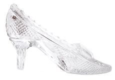 Woman glass shoe Royalty Free Stock Images