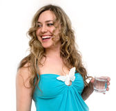 Woman with glass of water Stock Image