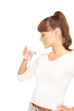 Woman with glass of water Royalty Free Stock Image
