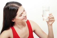 Woman with glass of Water Royalty Free Stock Photo