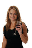 Woman with a glass of wine Royalty Free Stock Photos
