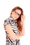 Woman in glasses Stock Image