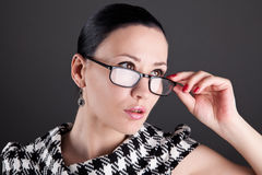 A woman with glasses Royalty Free Stock Photos