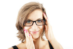 Woman with glasses Royalty Free Stock Image