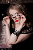 Woman in glasses Stock Photos