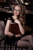 Woman in glasses Royalty Free Stock Image