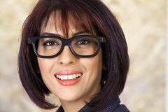 Woman in glasses Royalty Free Stock Photography