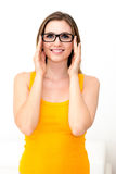 Woman in glasses Stock Photo