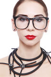 Woman in glasses Stock Photography