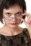 Woman with glasses Stock Photos