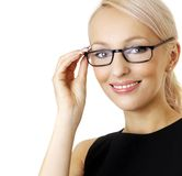 Woman with glasses Royalty Free Stock Photo