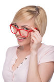 Woman in glasses. Stock Image