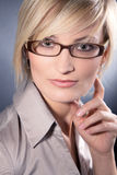 Woman with glasses close up Royalty Free Stock Images