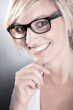 Woman with glasses close up Royalty Free Stock Image