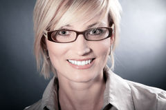 Woman with glasses close up Royalty Free Stock Photos