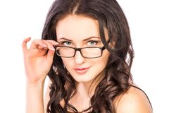 Woman in glasses Stock Images