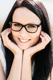 Woman with glasses - portrait Stock Image