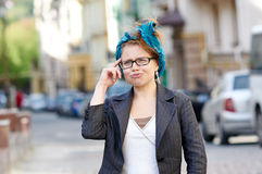 Woman in glasses posing artistically for fun Stock Photos