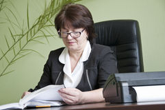 Woman in glasses Royalty Free Stock Images