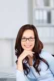 Woman with glasses Stock Photography