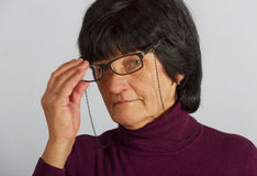 Woman with glasses. Stock Photography