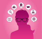 Woman with glasses Royalty Free Stock Images
