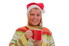 Woman with glogg Stock Image