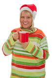 Woman with glogg Royalty Free Stock Photography