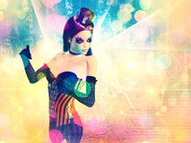 Woman on Glowing Background royalty free illustration