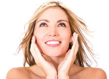 Woman with glowing skin Royalty Free Stock Photos