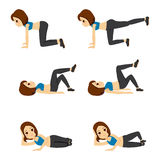 Woman Glute Exercising Royalty Free Stock Images
