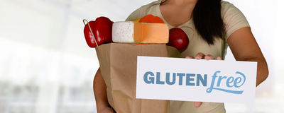 Woman Gluten Free Shopping Stock Photo
