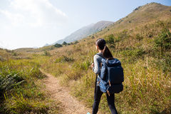 Woman go hiking Royalty Free Stock Images