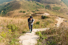 Woman go for hiking Stock Photography