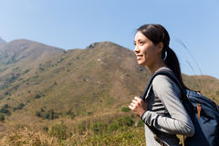 Woman go hiking Royalty Free Stock Image