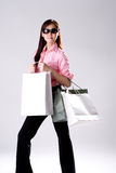 Woman go shopping Stock Photos