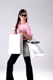 Woman go shopping Stock Image