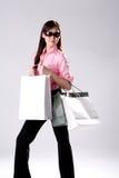 Woman go shopping Stock Image