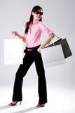 Woman go shopping Royalty Free Stock Photo
