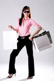 Woman go shopping Stock Photography